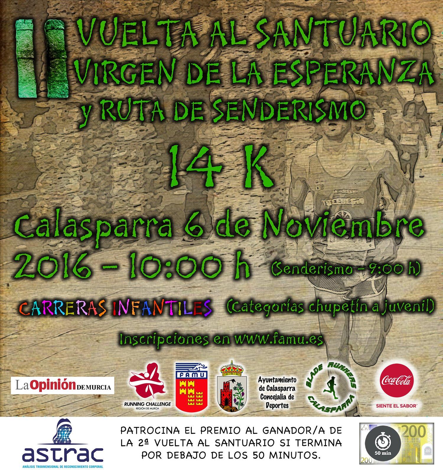 Cartel 2ª Vuelta Al Santuario Con Challenge Con Faldoncillo 200€ CORREGIDO Y Cocacola Y La Opininon 1500