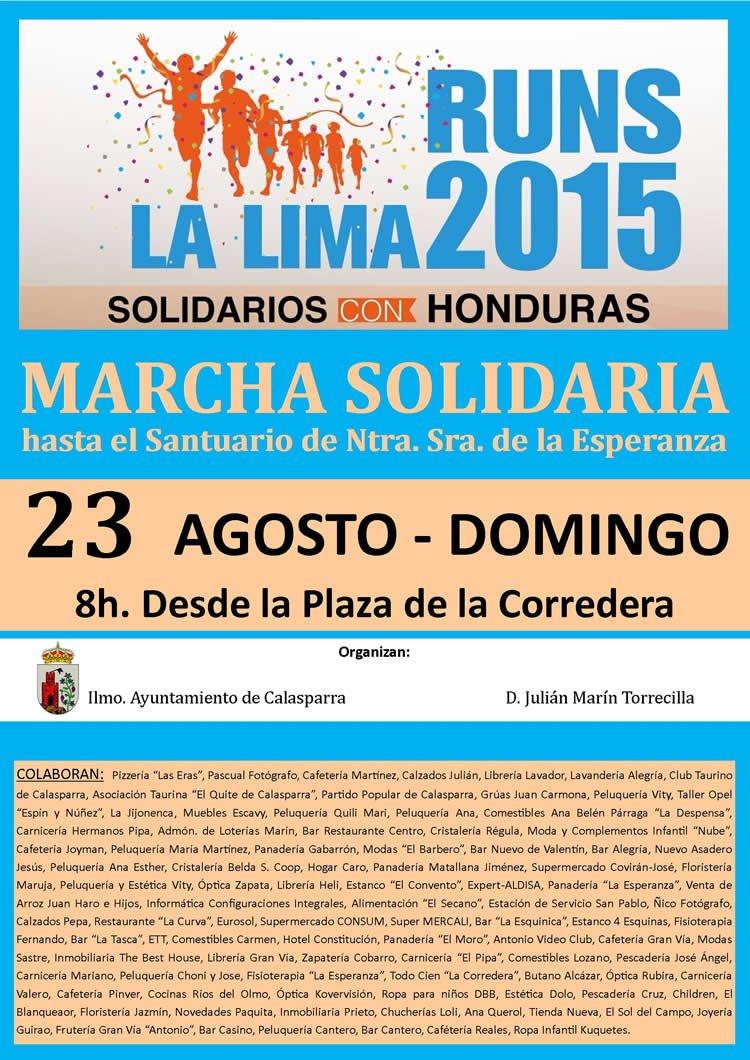 Cartel Marcha Solidaria Calasparra 2015