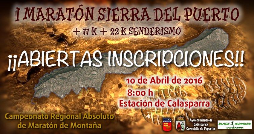 ABIERTAS INSCRIPCIONES!!  – I Maratón De Montaña Sierra Del Puerto