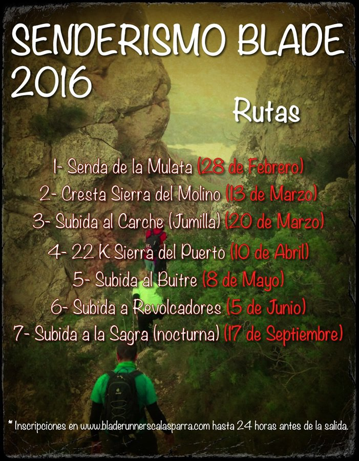 Senderismo Blade 2016