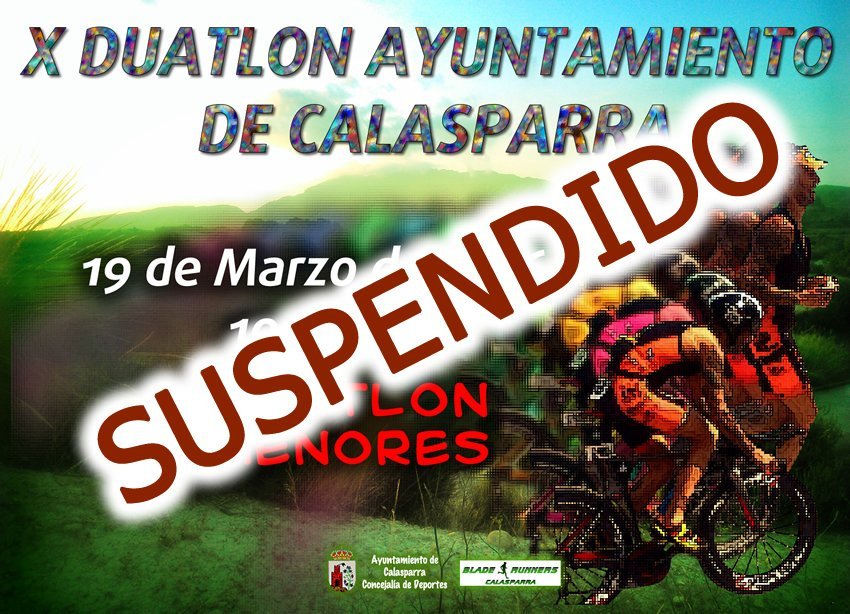 SUSPENDIDO El X Duatlon Ayuntamiento De Calasparra