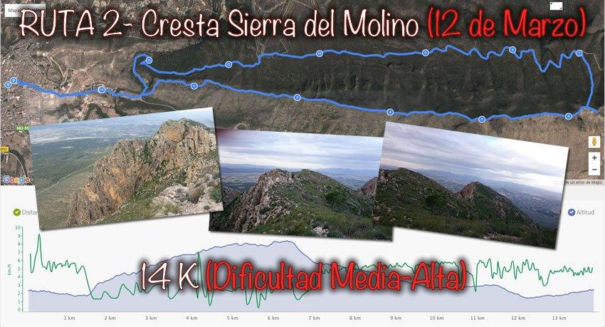 Ruta 2 – Cresta Del Molino (12-3-2016)