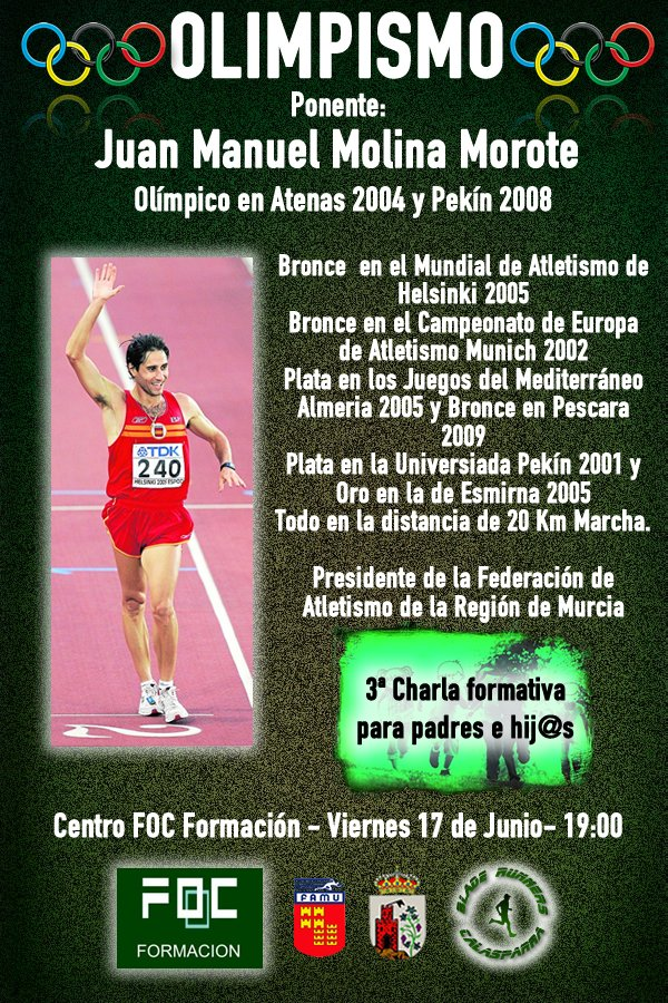 3ª Charla Formativa – OLIMPISMO – Juanma Molina