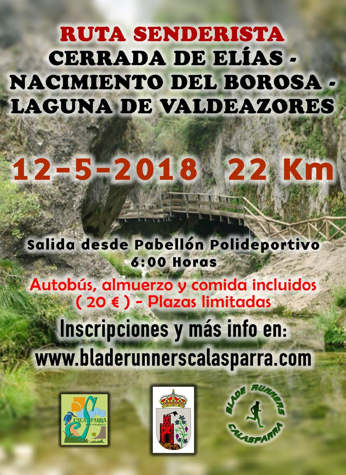 Ruta Senderista – Cerrada De Elías – Nacimiento Del Río Borosa – Laguna De Valdeazores