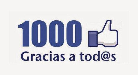 YA SOMOS 1000 EN FACEBOOK!!