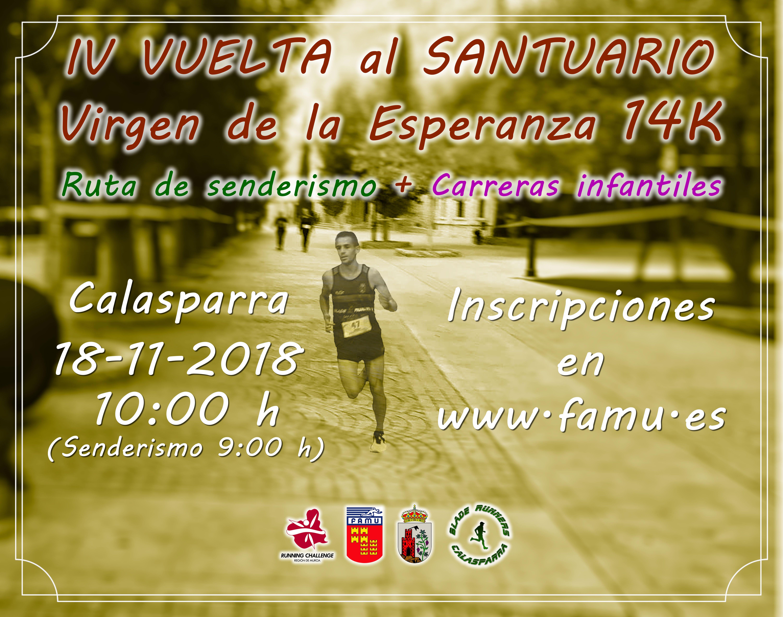 4ª Vuelta Al Santuario 14K + Ruta Senderista – ¡¡INSCRIPCIONES ABIERTAS!!