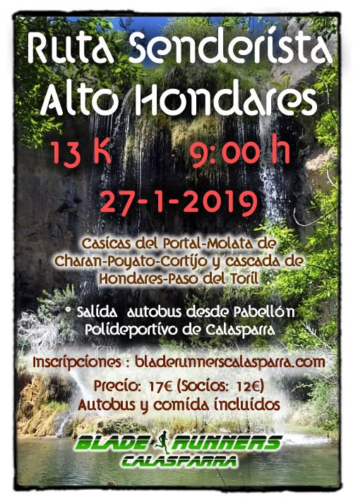 RUTA SENDERISTA – ALTO HONDARES
