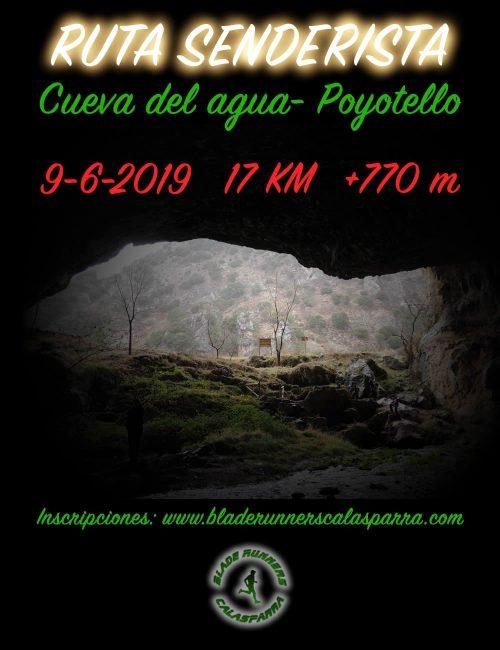 cartel ruta cueva del agua