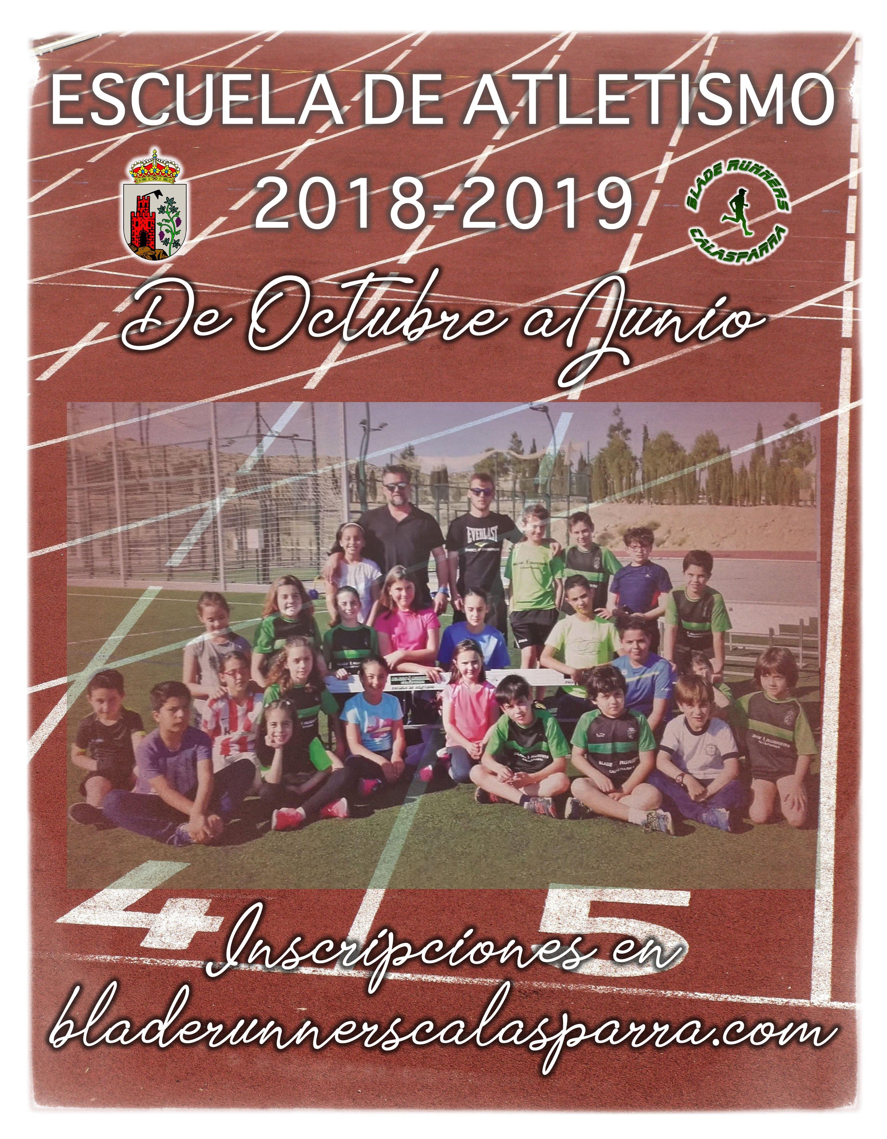 Escuela De Atletismo 2018-2019 ¡Inscripciones Abiertas!