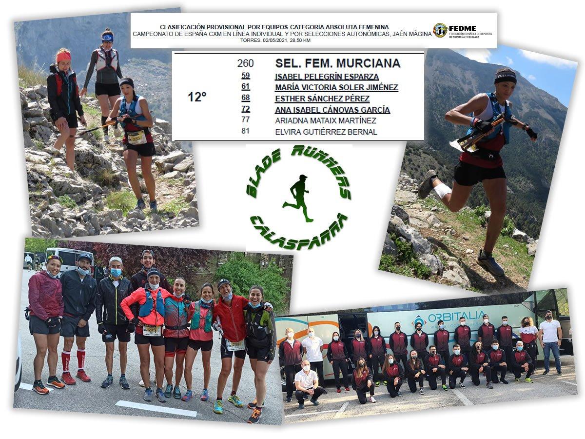 Viky En El Campeonato De España De Trail Con La Selección Murciana.